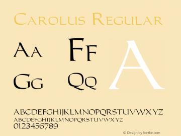 Carolus Regular Unknown Font Sample