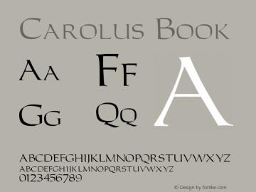 Carolus Book Version 001.003 Font Sample