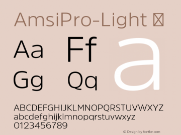 AmsiPro-Light ☞ Version 1.40;com.myfonts.easy.stawix.amsi-pro.light.wfkit2.version.4m5a图片样张