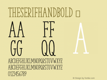 TheSerifHandBold ☞ 2.000;com.myfonts.easy.la-goupil.the-serif-hand.bold.wfkit2.version.468A Font Sample