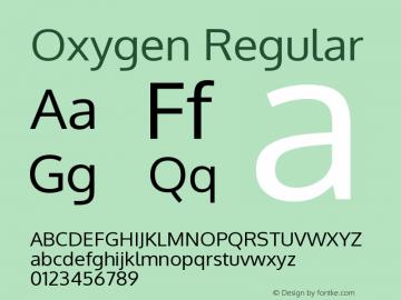 Oxygen Regular Version Release 0.2.3 webfon Font Sample
