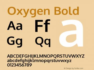Oxygen Bold Version 0.2.3 webfont; ttfau Font Sample