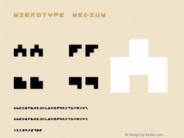 Microtype Medium Version 001.000 Font Sample