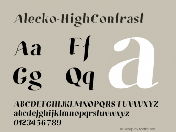 Alecko-HighContrast ☞ 001.000;com.myfonts.easy.boris-marinov.alecko.high-contrast.wfkit2.version.3FwZ Font Sample
