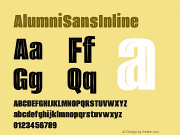 AlumniSansInline ☞ Version 1.000;PS 001.001;hotconv 1.0.56;com.myfonts.easy.typesetit.alumni.inline.wfkit2.version.4mJq图片样张