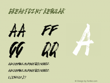 BreakPoint Regular Version 1.00 February 16, 2015, initial release Font Sample