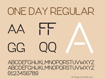 ONE DAY Regular Version 1.000;PS 001.001;hotconv 1.0.56图片样张