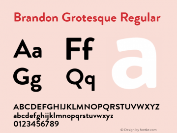 Brandon Grotesque Regular Version 001.000;com.myfonts.easy.hvdfonts.brandon-grotesque.bold.wfkit2.version.44Sc Font Sample