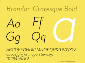 Brandon Grotesque Bold Version 001.000;com.myfonts.easy.hvdfonts.brandon-grotesque.light-italic.wfkit2.version.44S9 Font Sample