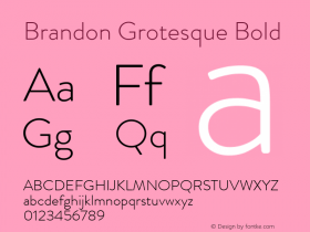Brandon Grotesque Bold Version 001.000;com.myfonts.easy.hvdfonts.brandon-grotesque.light.wfkit2.version.44Sa Font Sample