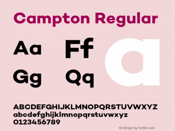 Campton Regular Version 1.000;PS 001.000;hotconv 1.0.70;makeotf.lib2.5.58329;com.myfonts.easy.rene-bieder.campton.bold.wfkit2.version.4hPB Font Sample