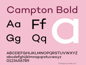 Campton Bold Version 1.000;PS 001.000;hotconv 1.0.70;makeotf.lib2.5.58329;com.myfonts.easy.rene-bieder.campton.book.wfkit2.version.4hPC Font Sample