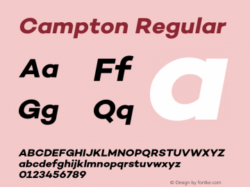Campton Regular Version 1.000;PS 001.000;hotconv 1.0.70;makeotf.lib2.5.58329;com.myfonts.easy.rene-bieder.campton.bold-italic.wfkit2.version.4hPN Font Sample