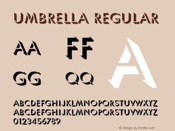 Umbrella Regular Unknown Font Sample