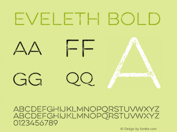 Eveleth Bold Version 1.000;com.myfonts.easy.yellow-design.eveleth.thin.wfkit2.version.4c7s Font Sample