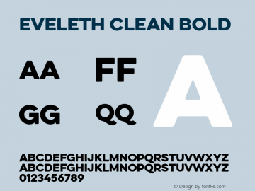 Eveleth Clean Bold Version 1.000;com.myfonts.easy.yellow-design.eveleth.clean-regular.wfkit2.version.4c7t图片样张
