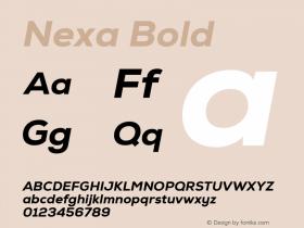 Nexa Bold Version 1.000;com.myfonts.easy.font-fabric.nexa.heavy-italic.wfkit2.version.4kEY Font Sample