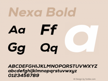 Nexa Bold Version 1.000;com.myfonts.easy.font-fabric.nexa.heavy-italic.wfkit2.version.4kEY Font Sample