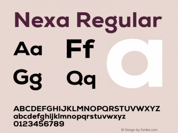 Nexa Regular Version 1.000;com.myfonts.easy.font-fabric.nexa.heavy.wfkit2.version.4kEZ Font Sample