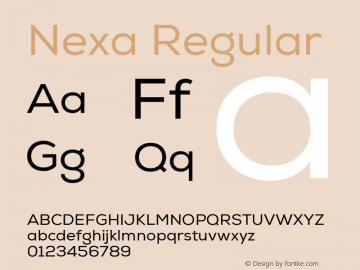 Nexa Regular Version 001.001;com.myfonts.easy.font-fabric.nexa.regular.wfkit2.version.4kF3 Font Sample