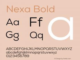 Nexa Bold Version 1.000;com.myfonts.easy.font-fabric.nexa.book.wfkit2.version.4kES Font Sample