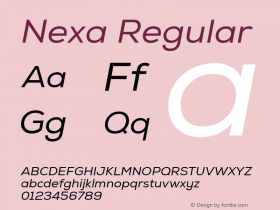 Nexa Regular Version 001.001;com.myfonts.easy.font-fabric.nexa.italic.wfkit2.version.4n8K Font Sample