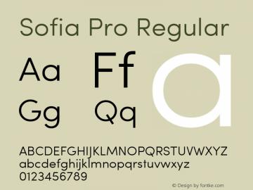 Sofia Pro Regular Version 2.000;com.myfonts.easy.mostardesign.sofia-pro.light.wfkit2.version.3Gr3 Font Sample