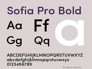 Sofia Pro Bold Version 2.000;com.myfonts.easy.mostardesign.sofia-pro.medium.wfkit2.version.3GqZ Font Sample