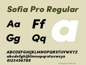 Sofia Pro Regular Version 2.000;com.myfonts.easy.mostardesign.sofia-pro.black-italic.wfkit2.version.3GqQ Font Sample