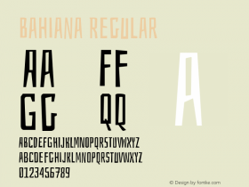 Bahiana Regular Version 1.004 Font Sample