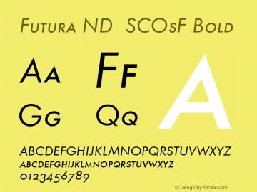 Futura ND SCOsF Font,Futura ND Book SCOsF Oblique Font