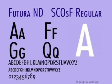 Futura ND SCOsF Font,Futura ND Cn Light SCOsF Font