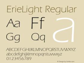 ErieLight Regular Unknown Font Sample