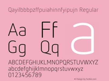 Qayilbbbpzffpuiahinnfyipujn Regular Version 7.504; 2012; Build 1022;com.myfonts.easy.fontfont.netto.pro-light.wfkit2.version.4fXg Font Sample