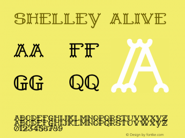 Shelley Alive Version 1.000 Font Sample