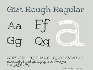 Gist Rough Regular Version 1.000;com.myfonts.easy.yellow-design.gist-rough.upr-light.wfkit2.version.4825图片样张