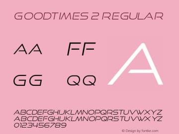 GoodTimes 2 Regular Version 4.001;com.myfonts.easy.typodermic.good-times.light-italic.wfkit2.version.3RUQ图片样张