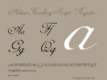 AdineKirnberg-Script Regular Converted from C:\TEMP\ADKS____.TF1 by ALLTYPE Font Sample
