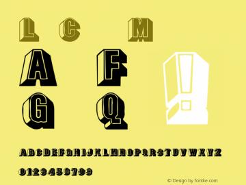 LeeCaps Medium Version 001.001 Font Sample