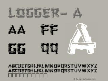 Logger- A 1.0 Thu May 26 15:40:45 1994 Font Sample