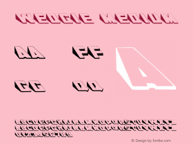 Wedgie Medium Version 001.001 Font Sample