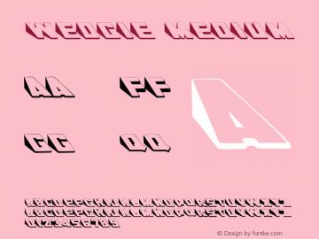 Wedgie Medium Version 001.001 Font Sample