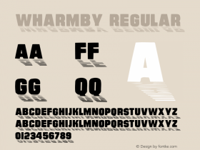 Wharmby Regular Unknown Font Sample