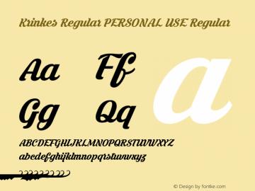 Krinkes Regular PERSONAL USE Regular Version 1.000 Font Sample