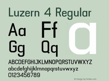 Luzern 4 Regular Version 001.001;com.myfonts.easy.absolut-foundry.luzern.medium.wfkit2.version.482A Font Sample