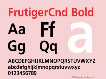 FrutigerCnd Bold Version 001.000 Font Sample