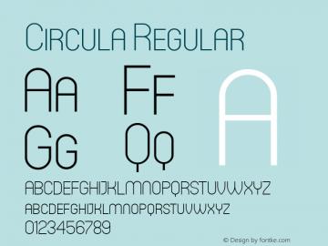 Circula Regular Version 1.000;com.myfonts.easy.paragraph.circula.thin.wfkit2.version.3pfo Font Sample