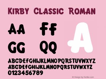Kirby Classic Font,KirbyClassic Font Kirby Classic Version