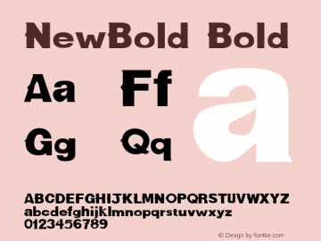 NewBold Bold Altsys Fontographer 3.5  9/30/92 Font Sample