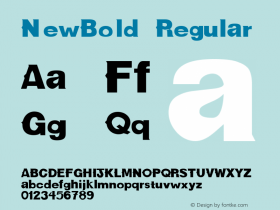 NewBold Regular Converted from f:\x\NEWBOLD.TF1 by ALLTYPE Font Sample